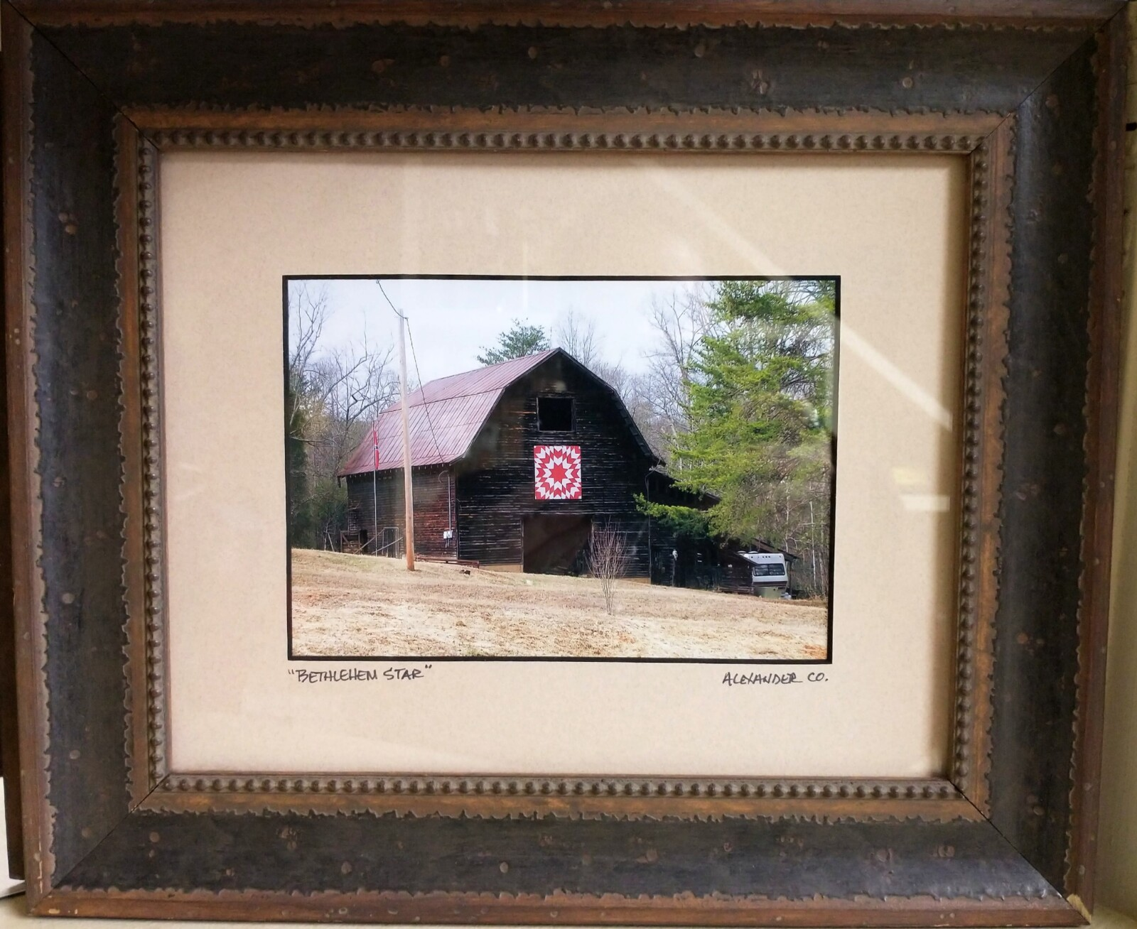 Bethlehem Star Barn Framed Photograph