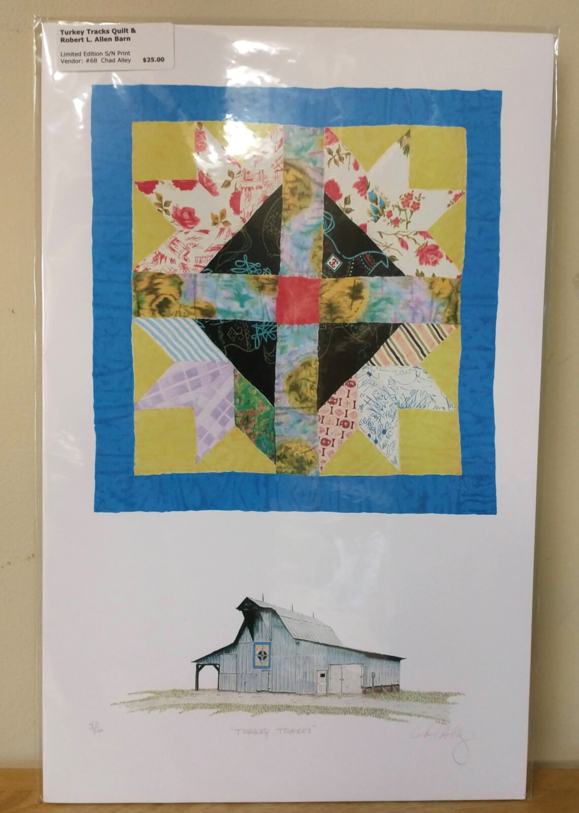 Turkey Tracks Quilt & Robert L. Allen Barn Print