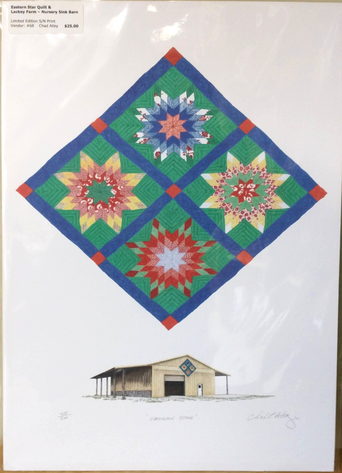Eastern Star Quilt & Lackey Farm- Nursery Sink Barn Print