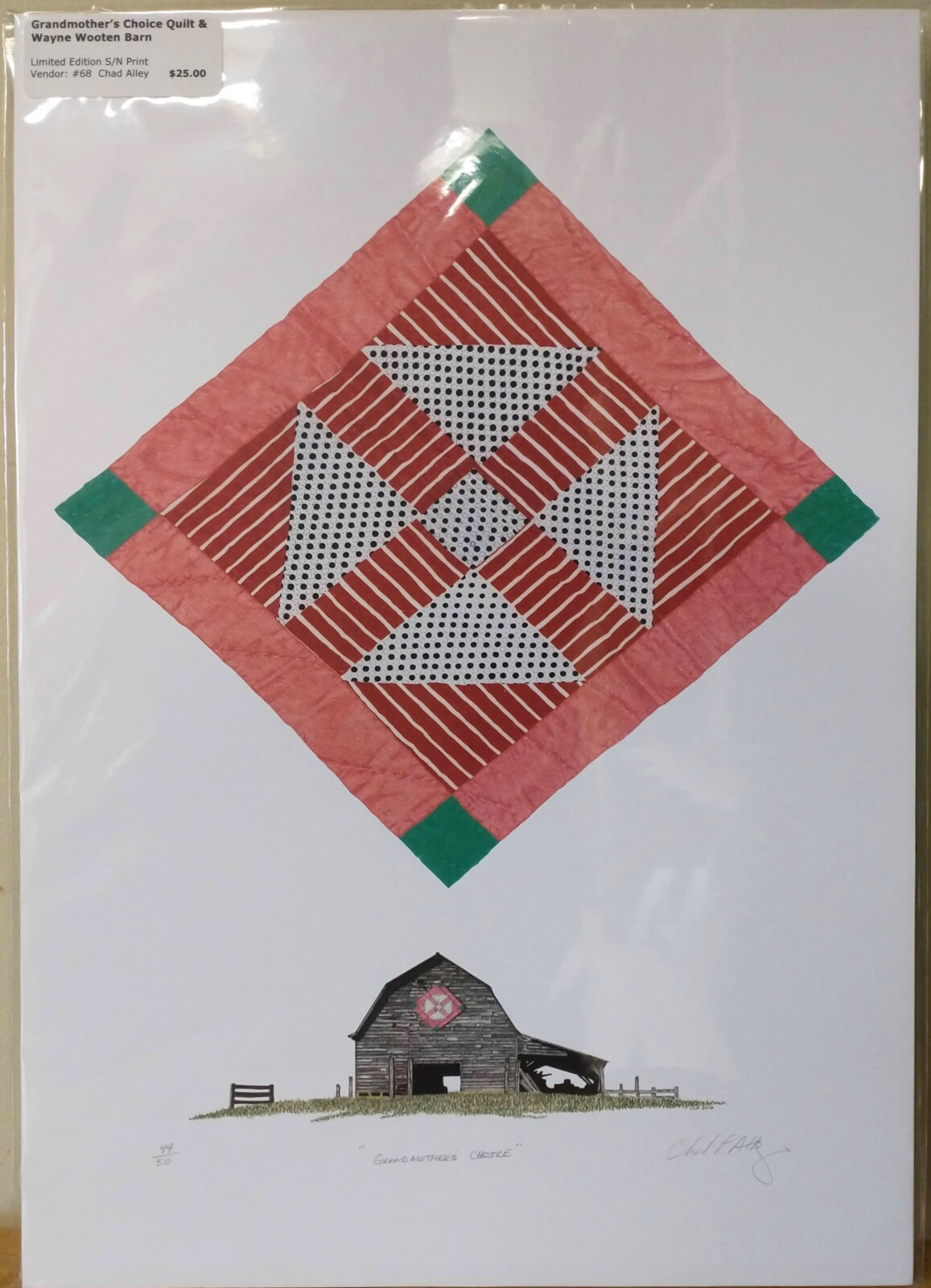 Grandmother's Choice Quilt & Wayne Wooten Barn Print