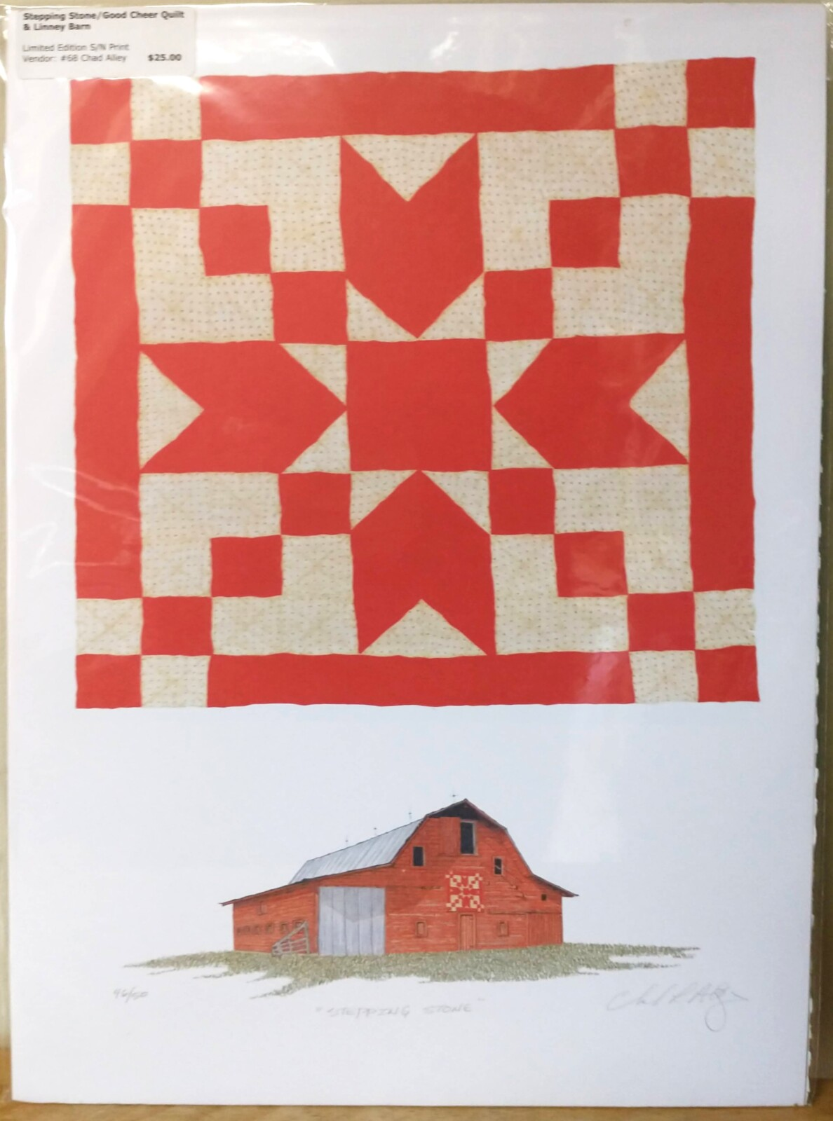Stepping Stone/Good Will Quilt & Limney Barn Print
