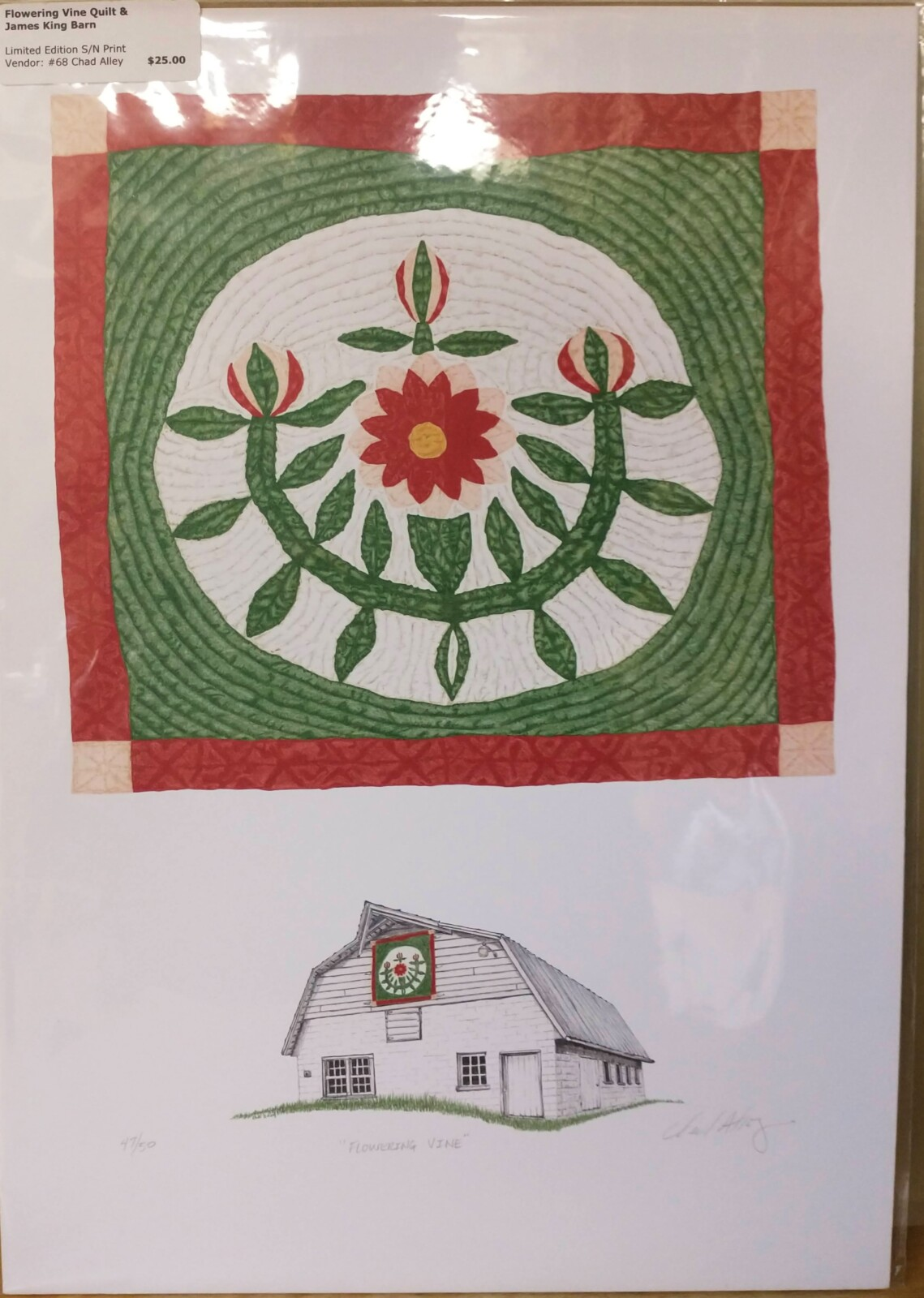 Flowering Vine Quilt & James King Barn Print