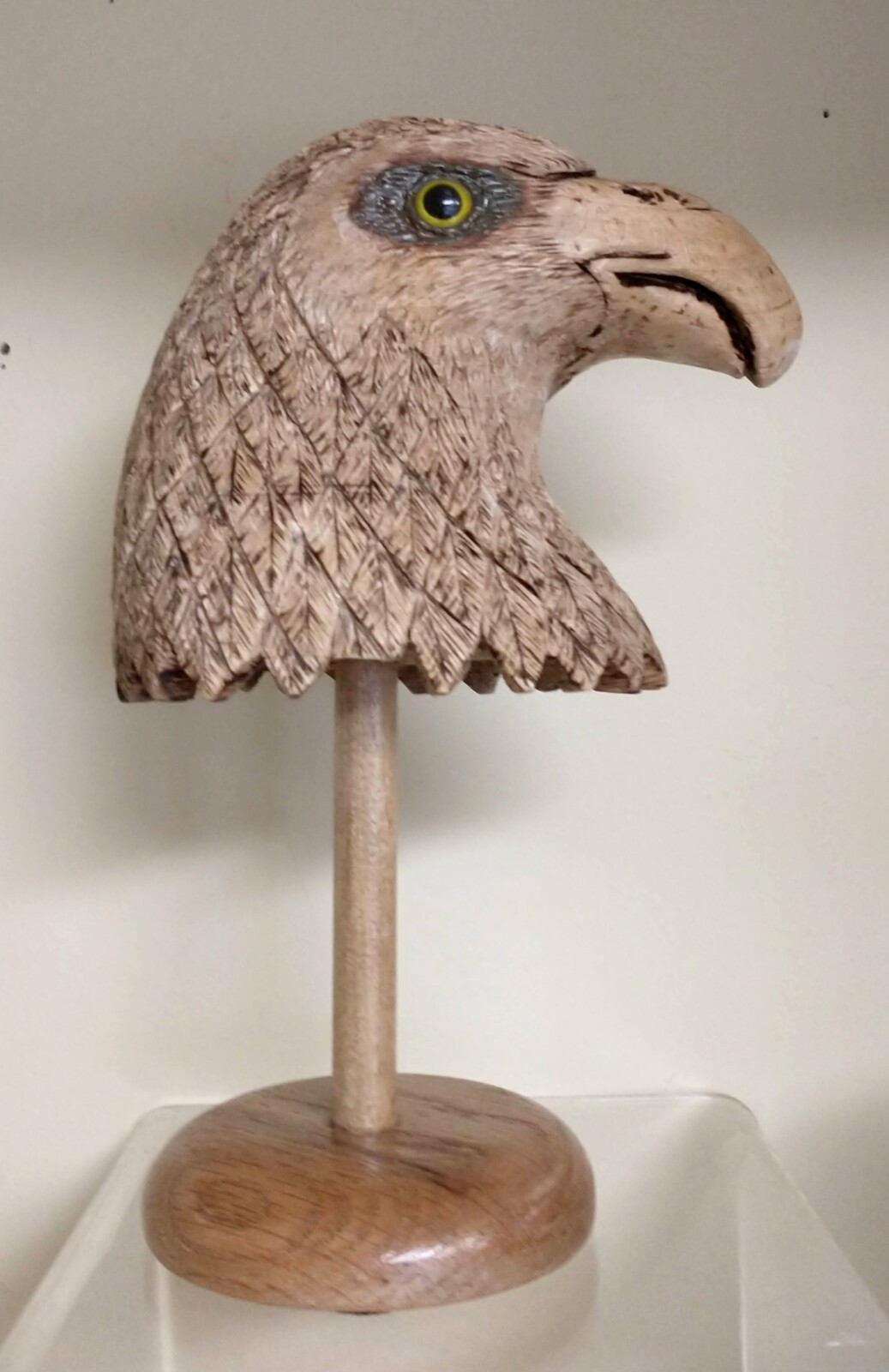 Eagle Bust Wooden Carving