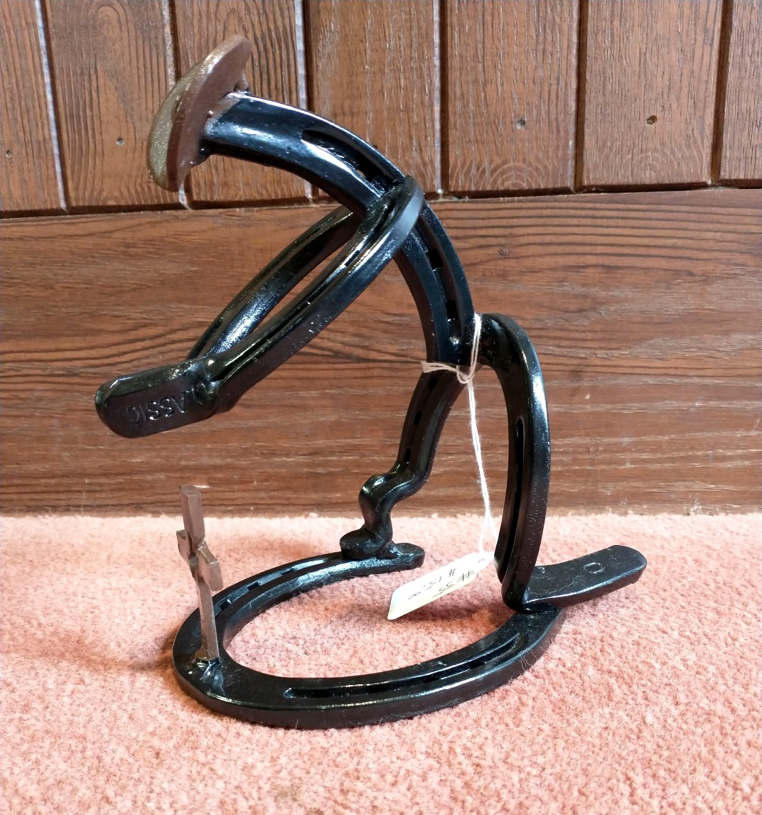 Praying Cowboy Horseshoe Figure