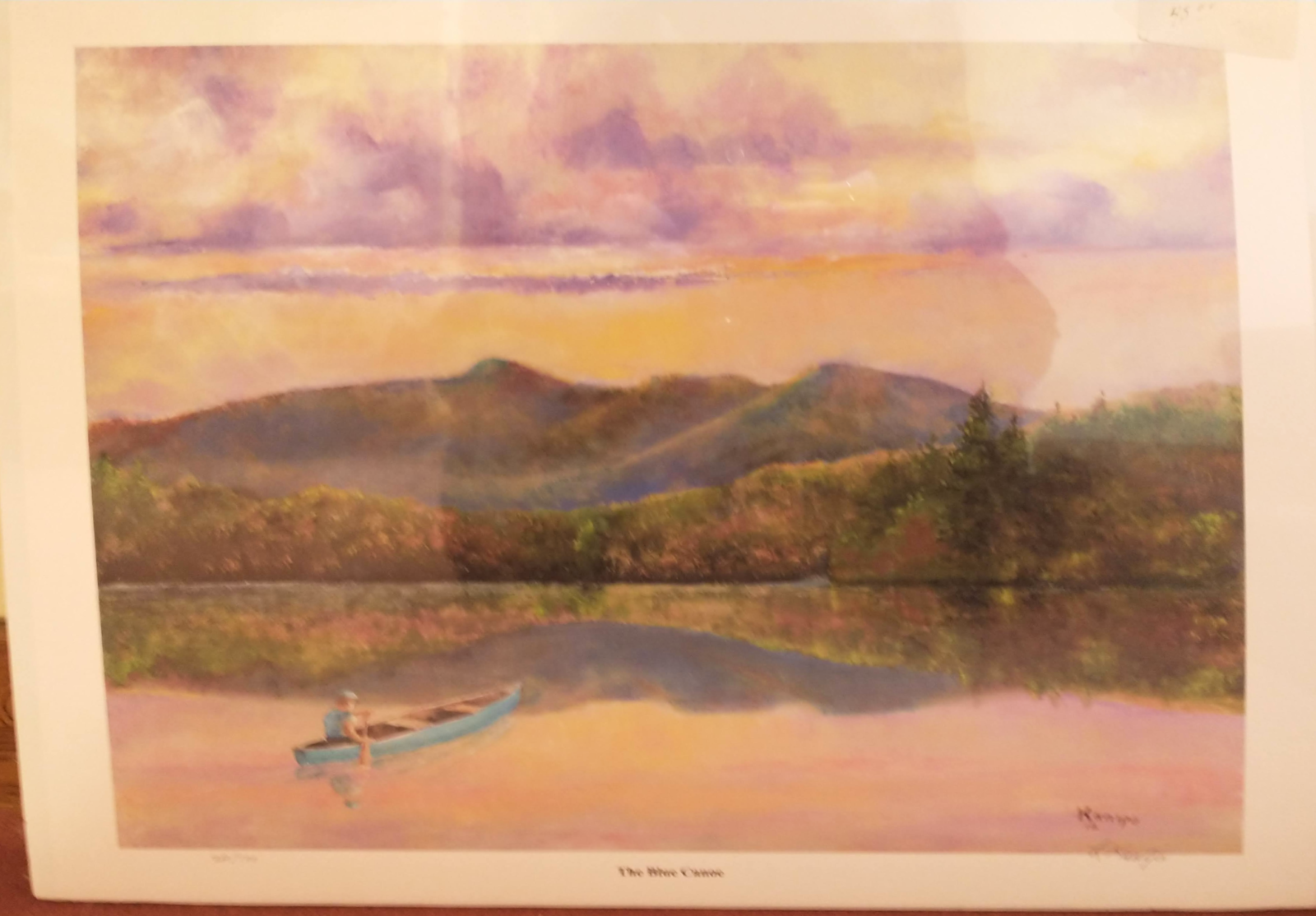 The Blue Canoe Print